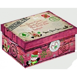Small North Pole Christmas Eve Shoe Gift Pj Box Delivery 28.5cm x 19cm x 12cm