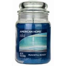American Home Large Scented Yankee Candle 19oz 538g Blue Peaceful Beach