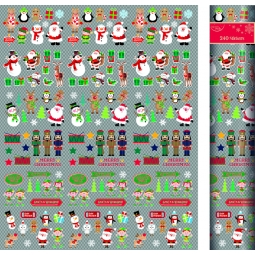 North Pole Tube Of 240 Luxury Small Christmas Craft Stickers Kids Card Making