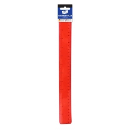 Tallon Just Stationery Flexible Ruler Transparent Red 30cm