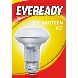 Eveready Eco Halogen R63 Clear E27 Light Bulbs 700 Lumen 46W Screw Warm