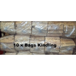 10 x Bags Of Kindling Fire Wood Ideal For Open Fires, BBq, Wood burner, Barbecue