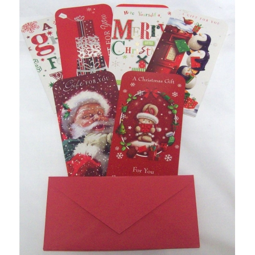 Christmas Money Voucher Gift Card Wallets Card With Envelopes Cute Mix