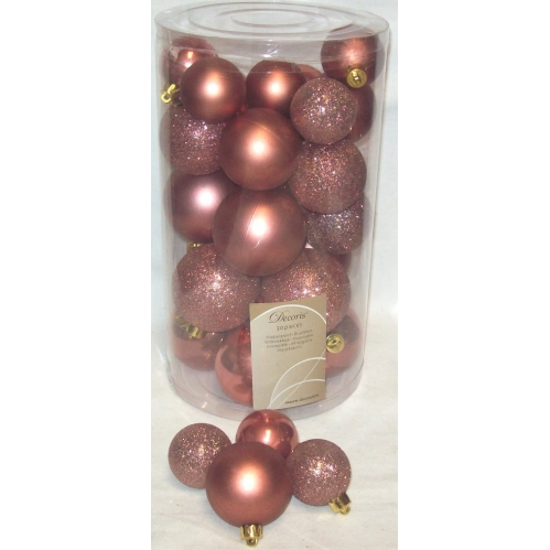 30 Marble Pink Baubles