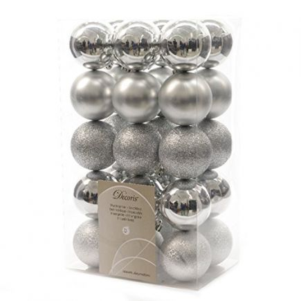 30 Silver Baubles