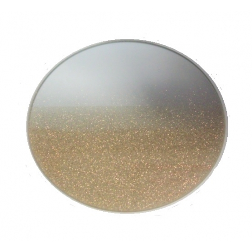 Luxury Round Gold Glitter Decorative Glass Candle Mirror Plate 20cm