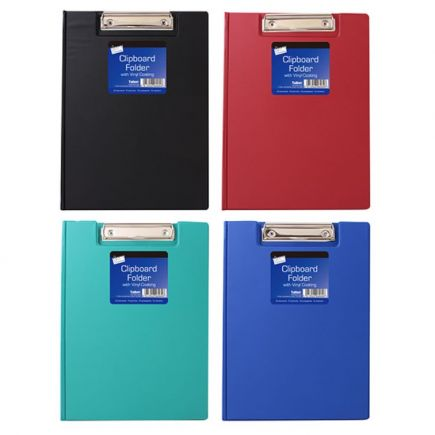 Just stationery A4 Vinyl Clipboard with Cover - Colours sent at random