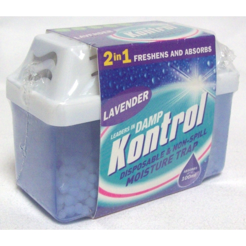 Kontrol 2 In 1 Mini Moisture Damp Trap Freshens Air and Absorbs Damp Lavender