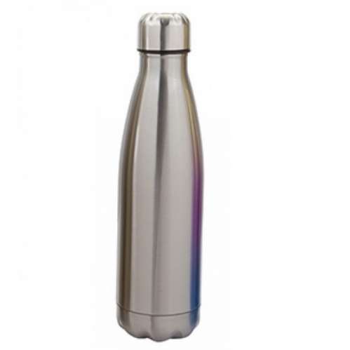 Silver Stainless Steel Double Wall Drinking Bottle Hot Cold Drinks Vacuume Flask