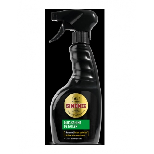 Simoniz Quick Shine Detailer Car Wax Spray Instant Shine With Carnauba Wax 500ml