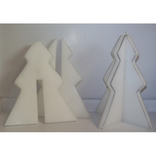 Set Of 2 Prices Tree Shaped Christmas Candles White Candles 3 Hours Burn Time