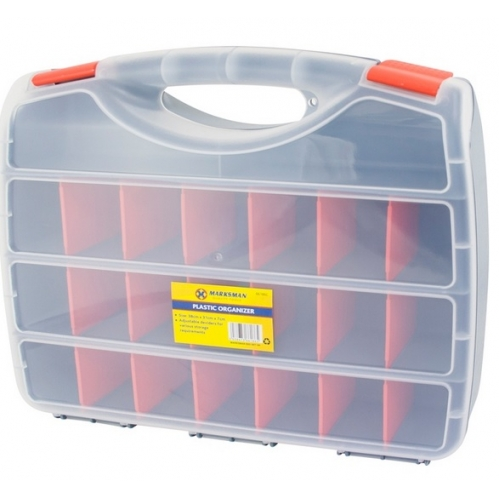 Marksman 38cm Devider Tool Organiser Craft Hobby Storage Box Caddy Screws Button