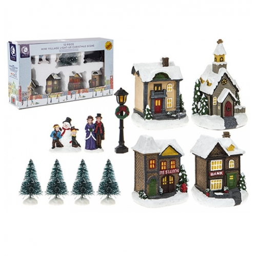 12 Piece Mini Village 523080
