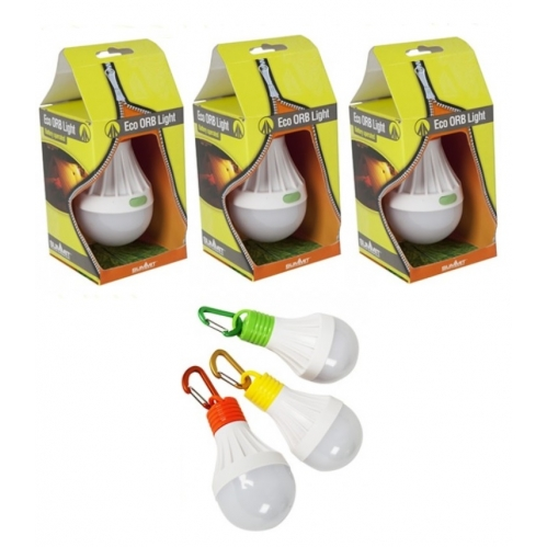 3 x Hanging Eco LED ORB Lights Camping Lantern Tent Shed Light Battery Operated