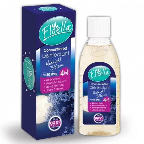 Floella Concentrated Disinfectant Kills Bacteria Odour Midnight Blossom 150ml