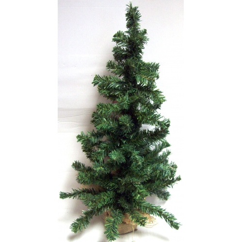 Large Table Top Centerpiece Artificial Christmas Tree With Hessian Base - 75CM