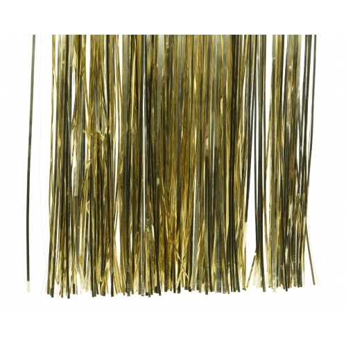 Decoris Lametta Foil Tinsel Strand Garland Christmas Decor 50cm x 40cm - Gold