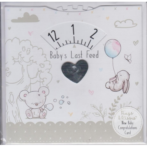 Baby Last Feed Cards