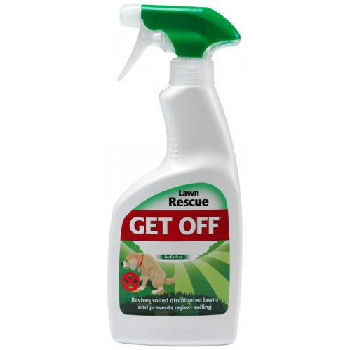 Get Off Lawn Rescue Grass Spray Garlic Free Revives Soiled Urinated Lawns 500ML