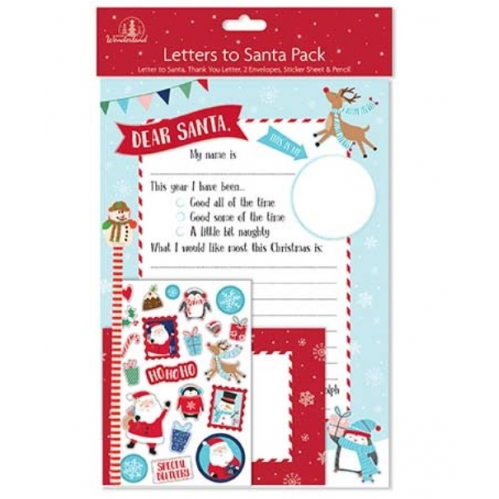 Childrens Write A Letter To Santa Dear Santa Thank You Pencil Stickers Envelopes