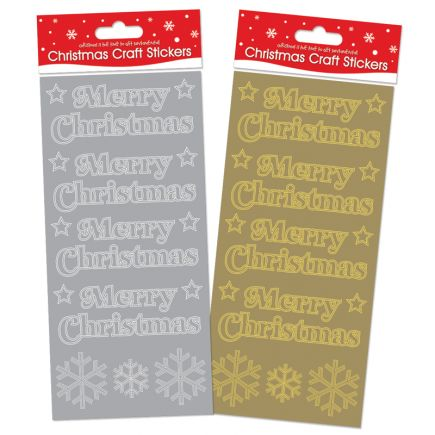 Christmas Craft Stickers Merry Christmas Stickers Star Snowflakes