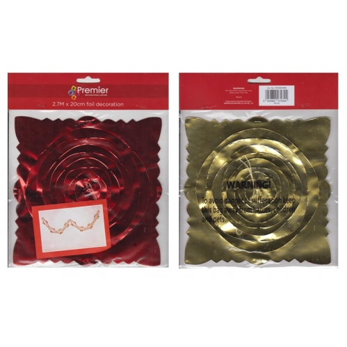 Red & Gold Foil Decoration