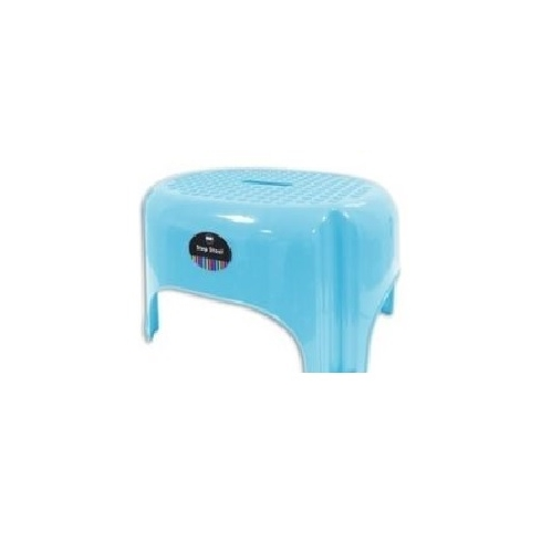 Blue Large Bright Coloured Plastic Step Stool Household Holds 85KG