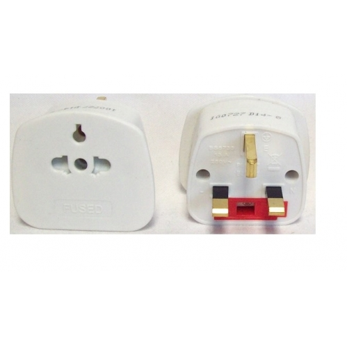 Pifco Uk 3 Pin Plug Tourist Adaptor Travel Plug UK To EU 2 Pin 13A 250V