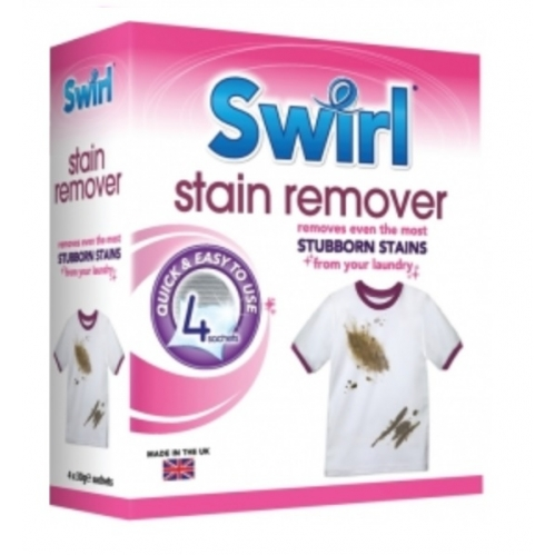 Swirl Stain Remover Washing Machine Laundry Sachets 4 x 30g For Stubborn Stains