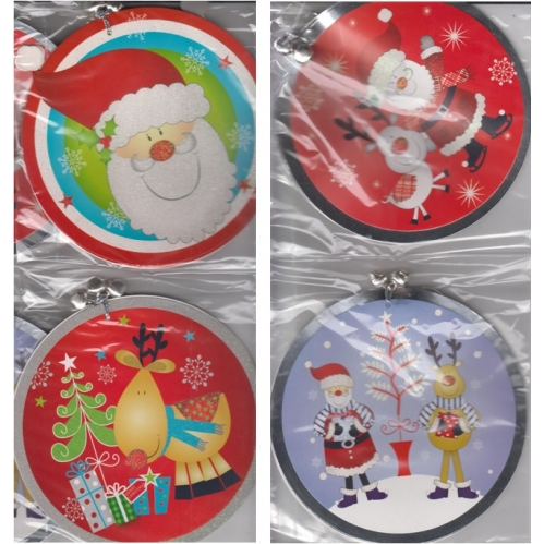 Snow White Pack Of 6 Giant Christmas Gift Tags With Jingle Bell 14cm Tags