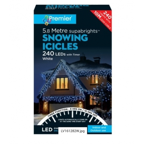 5.8M Icicle Lights White