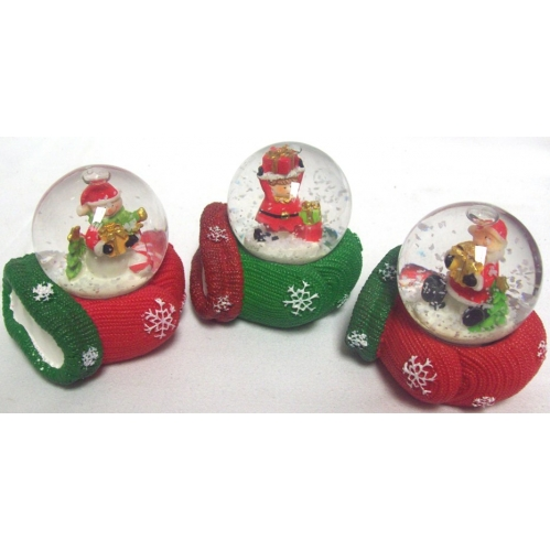 Christmas Snow Globe Water Globe With Mitten Base