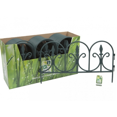 Fleur De Lys Green Garden Border Grass Flower Bed Edging Panels Fencing 51cm