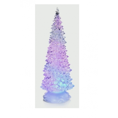 Premier Battery Or Mains Operated Water Spinner Christmas Tree 32cm Multi Colour