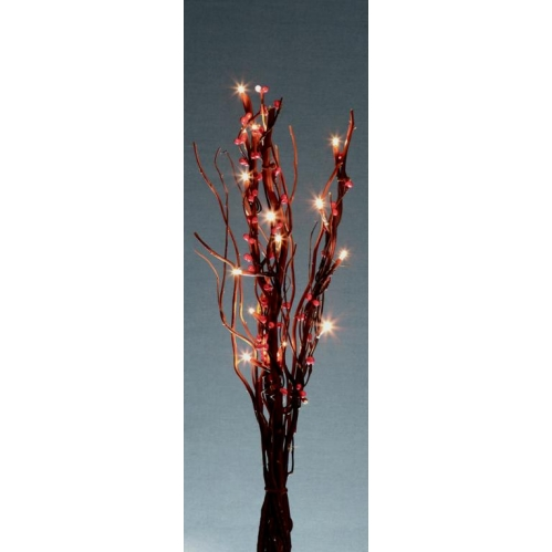 Premier Battery Light Up Decorative Twig Lights 40cm 16 White LED's Brown Berry