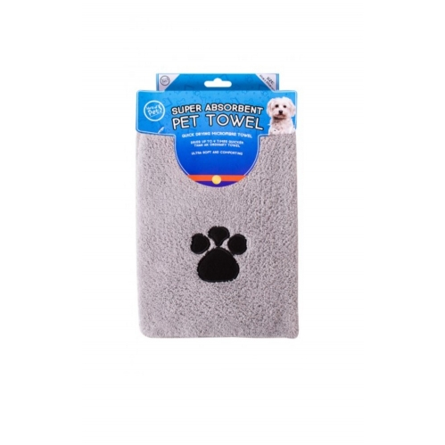 Grey Microfibre Pet Towel