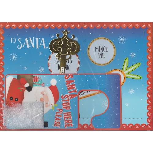 Children's Christmas Eve Pack Placemat Door Hanger Key Footprint Stencil & Snow