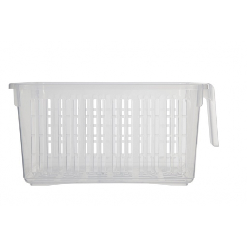 Clear Storage Caddy Baskets With Handle Easy Cupboard Storage Solutions