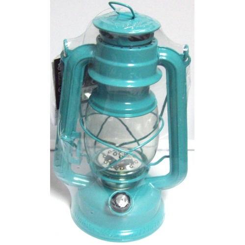 Aqua Green Lumineo Cool White LED Battery Camping Garden Lantern Indoor Outdoor