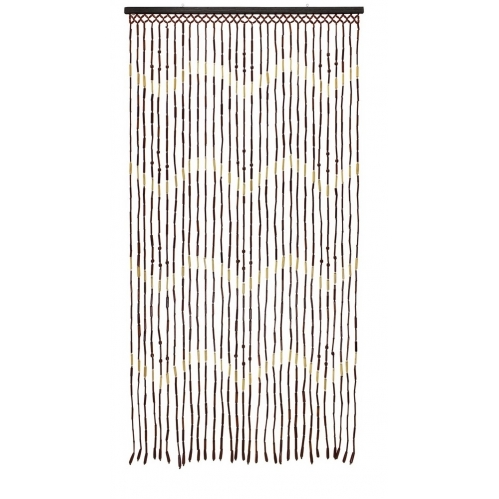 Beaded Bamboo Door Curtain 31 Strands Summer Fly Curtain 180 x 90cm-Zigzag
