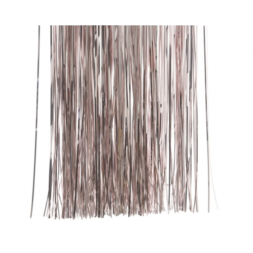 Decoris Lametta Foil Tinsel Strand Garland Christmas Decor 50cm x40cm Blush Pink