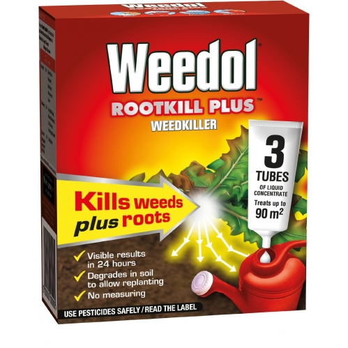 Weedol Rootkill Plus Weedkiller - 3 Tubes of liquid Concentrate