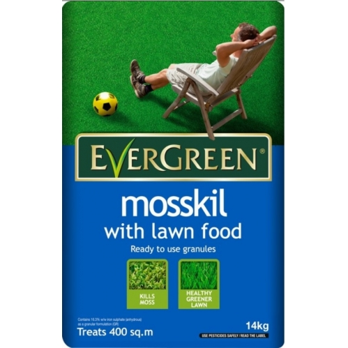 Evergreen mosskill with lawn food, ready to use granules 14kg