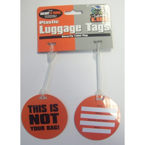 Luggage Travel Tags Suitcase Baggage Novelty Warning Cards Name Address Holder
