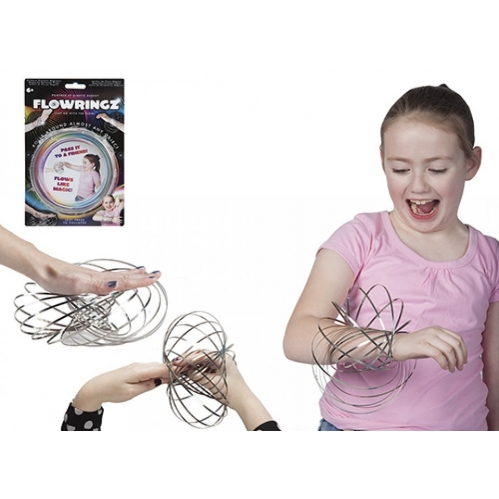 Fun Magic Flowringz Stainless Steel Arm Slinky Game Throw Pass Roll Juggle 6+