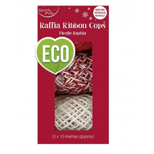 Pack Of 3 Eco Raffia Ribbon