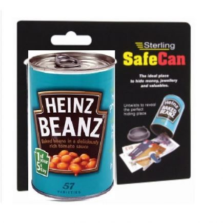 FAKE FALSE HEINZ BAKED BEAN TIN CAN HIDE KEEP MONEY SAVINGS BOX BANK SAFE CASH