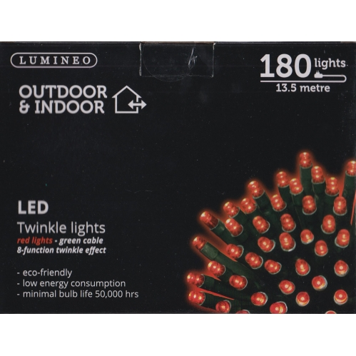 180 13.5M LED's - Red Lights