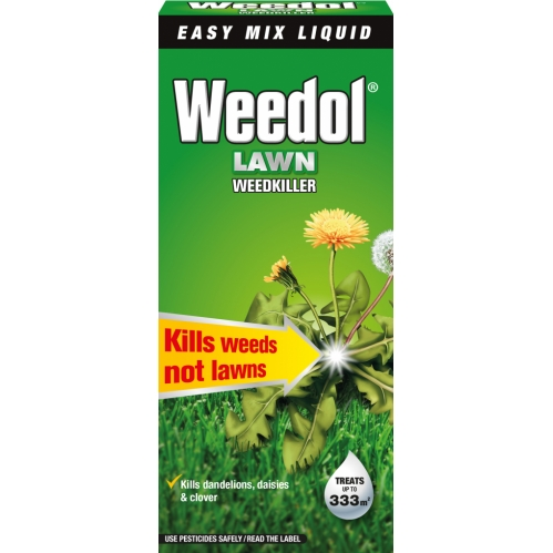 Weedol Lawn Weedkiller Treats up to 333m2 Kills Weeds Not Lawns 500ml
