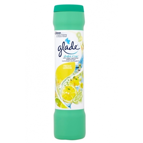 Glade Shake N Vac Carpet Freshener & Odour Neutraliser Lemon Fresh 500g